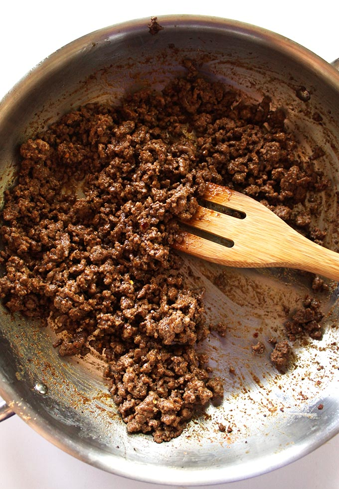Ground Beef for Healthy Taco Salad