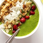 Green Lime Smoothie Bowl - Thick, creamy, slightly sweet, and tangy. Sky is the limit on the toppings! This recipe is perfect for breakfast or a snack! Vegan/ gluten free/ refined sugar free.