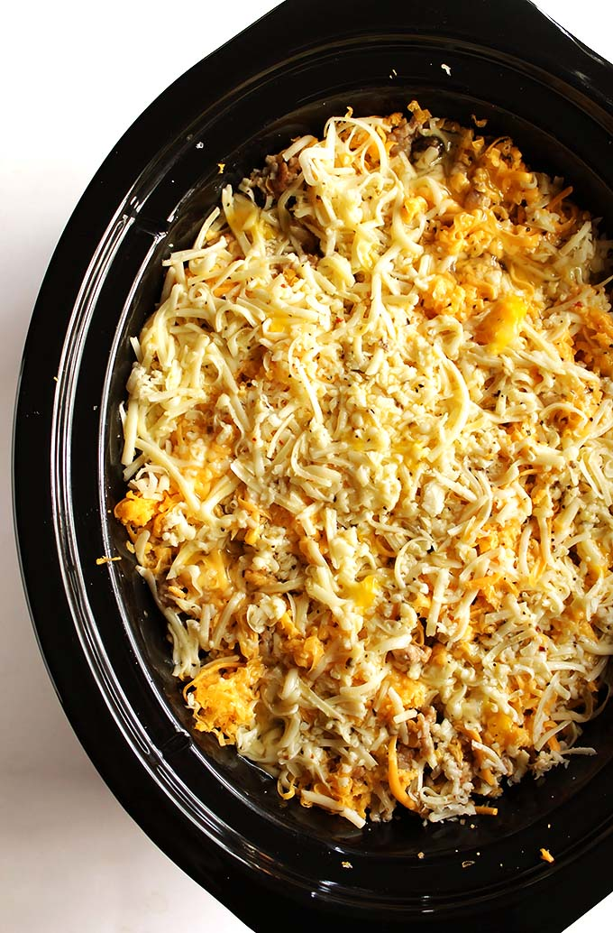 Mexican Crock Pot Breakfast Casserole - Gluten Free
