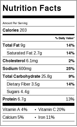gluten-free-green-bean-casserole-nutrtion-facts