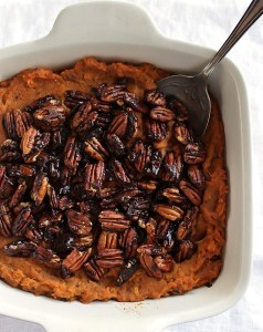 Sweet Potato Casserole with Spiced Pecans