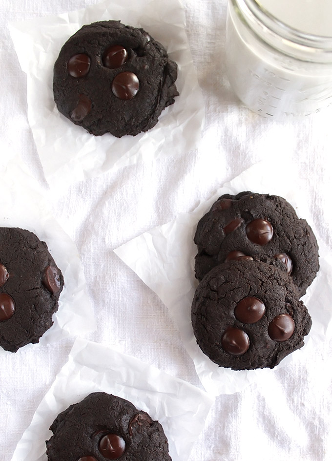 Gluten Free Chocolate Cookies - Soft, rich and chocolate-y! These cookies are so yum! They are perfect for all of your baking needs!! This recipe is EASY to make! Gluten Free/Refined Sugar Free/Dairy Free | robustrecipes.com