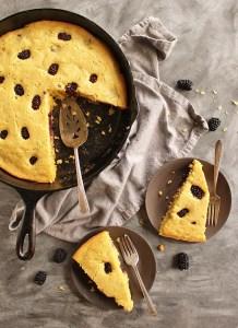 Zucchini Blackberry Cornbread (Gluten Free)