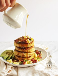 Cornmeal Pancakes with Bacon (Gluten Free)