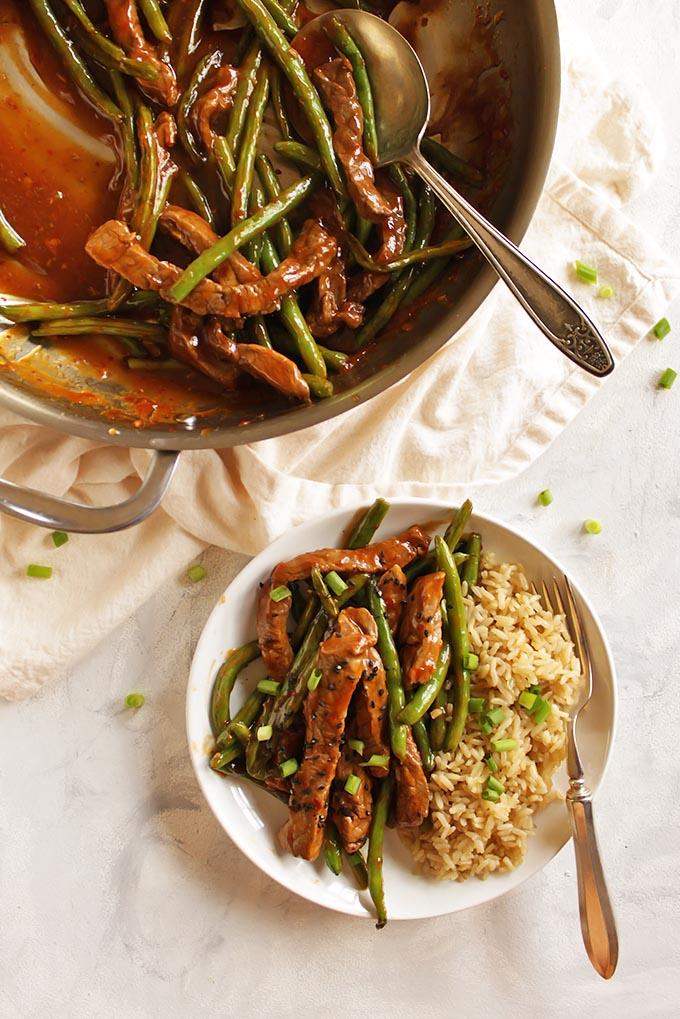 Asian Steak and Green Beans Stir Fry