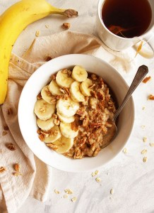 Protein Packed Banana Nut Oatmeal
