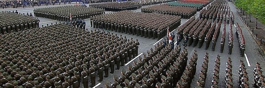 military parade line-up