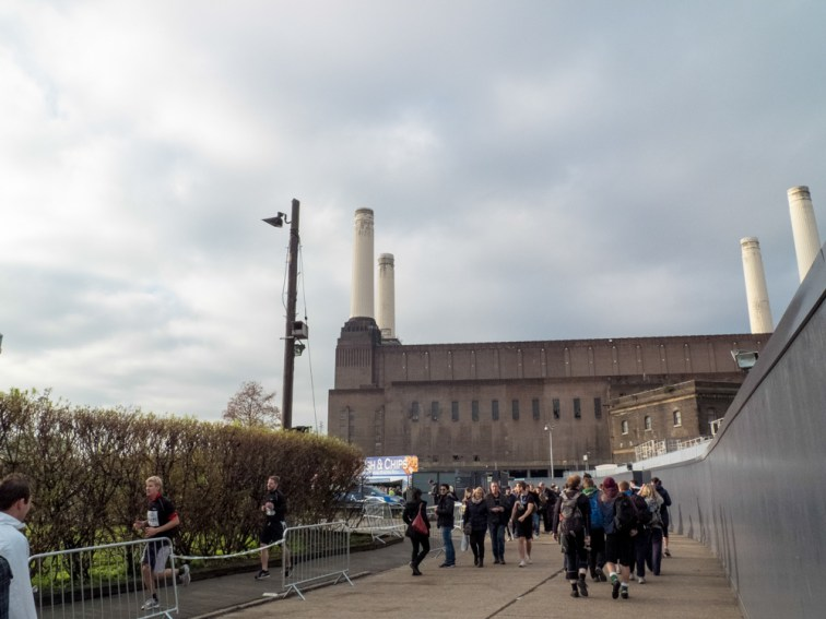Arriving to Battersea Power Station