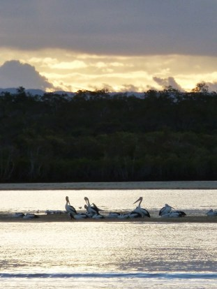 Dusk approaches, Noosa River. Noosa Long Weekend 2013