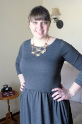 Colette Moneta with a statement necklace