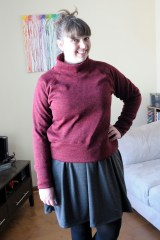 Colette Moneta layered under a Sew House 7 Toaster Sweater #1