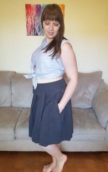 Top: Jennifer Lauren Hunter Tank in chiffon & satin. Bottoms: Love Notions Sybil Skirt in the pleated view