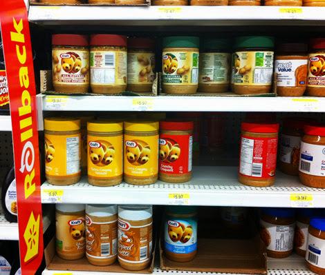 Shopping for peanut butter
