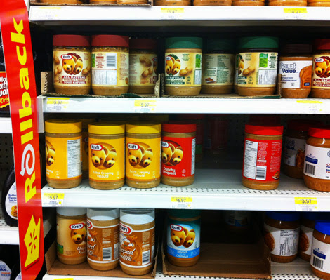 Shopping for peanut butter