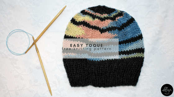 easy toque knitting pattern