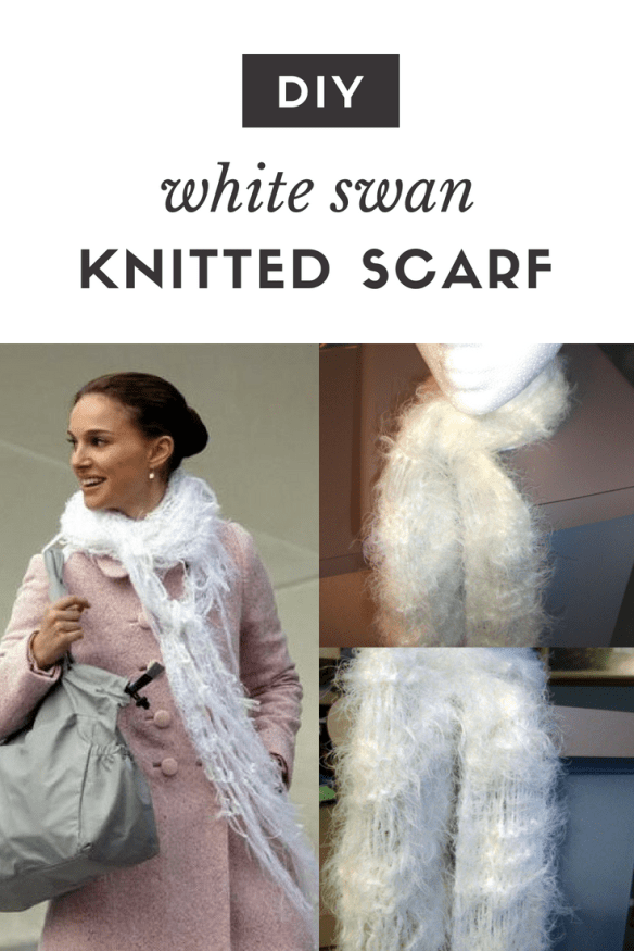 I set out to create a White Swan scarf for under $5. But then I realized I hate making scarves because they take so long. So I upgraded the challenge: I became convinced I needed to not only create a $5 scarf but one that took, like, five minutes to make as well.