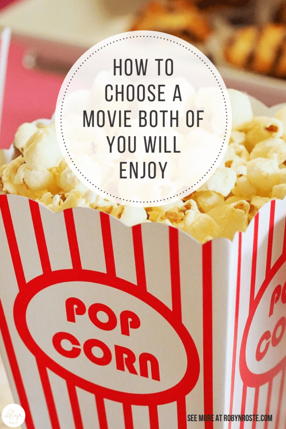 Going to the movies with my husband. We need strategies because I can only think of a handful we both actually enjoy and most of them are cartoons.