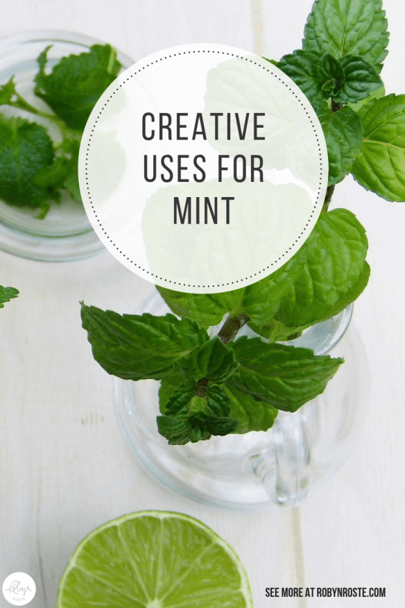 There are some great uses for mint, although many people consider it a weed. And they're not wrong. If left untended (or uncontained) it can take over. So don't let it! And enjoy it!