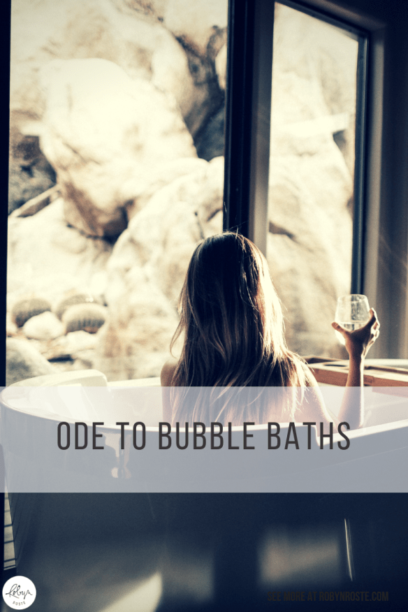 I love to bathe. I rarely ever have a shower. There's something about starting your day completely warm. There are some days when I've had two baths if I need a relaxer at the end of the day.
