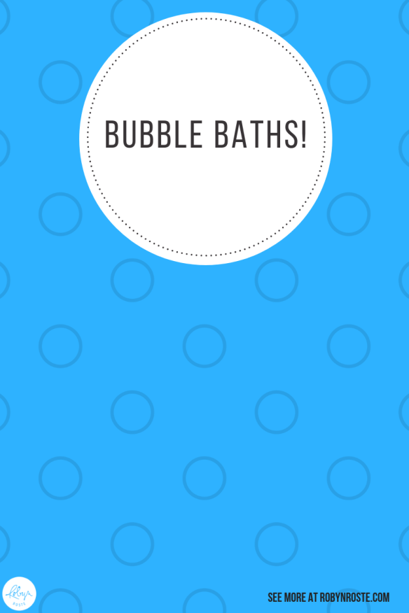 Over and over I've been reading about how the main benefit of bubble baths is they're stress relievers. And that's interesting because I'm stressed.