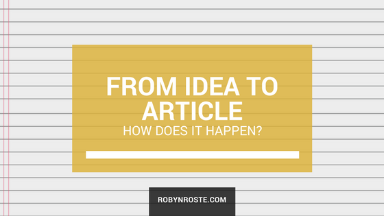 How an idea becomes an article