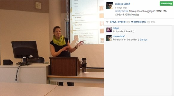 Speaking action shot