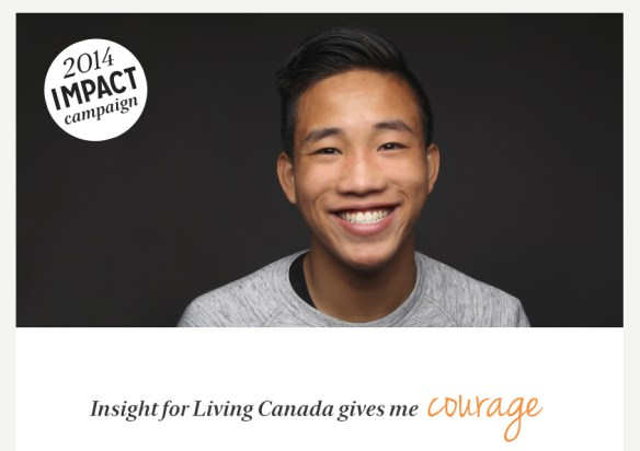 Insight for Living Canada gives me courage