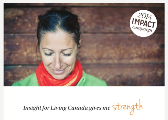 Insight for Living Canada Gives Me Strength