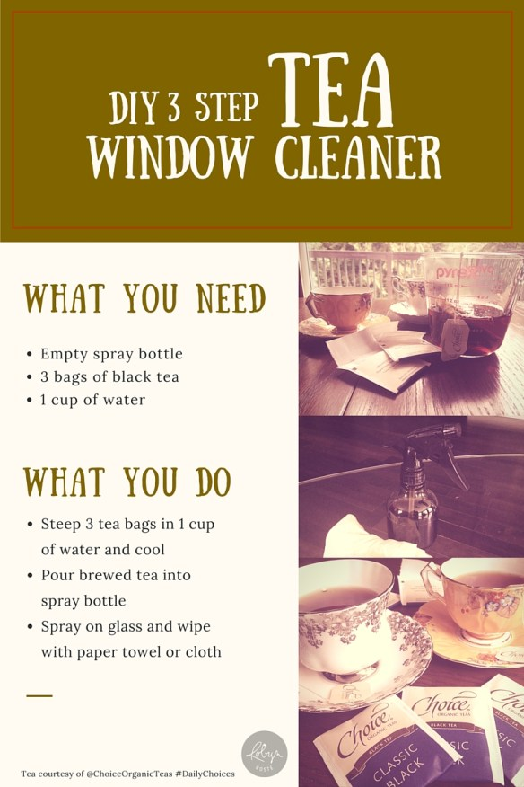DIY Black Tea Window Cleaner Instructions