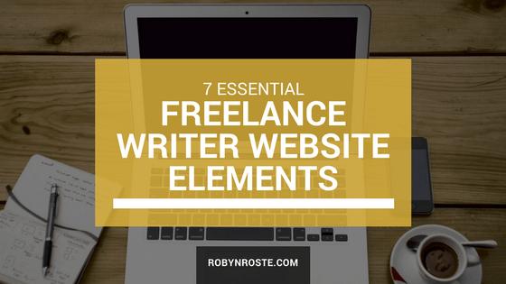 Seven essential freelance writer website elements