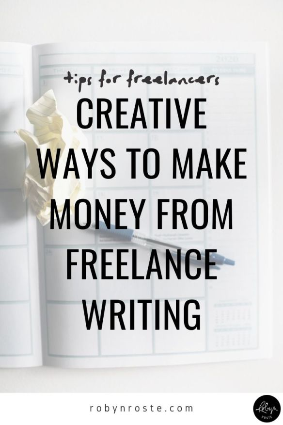 I want to talk about the different ways you can make money from freelance writing. This is an important topic to me because I see a lot of people limiting their income opportunities because they're not creative!