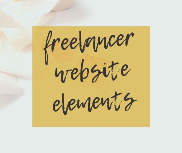 freelancer website elements