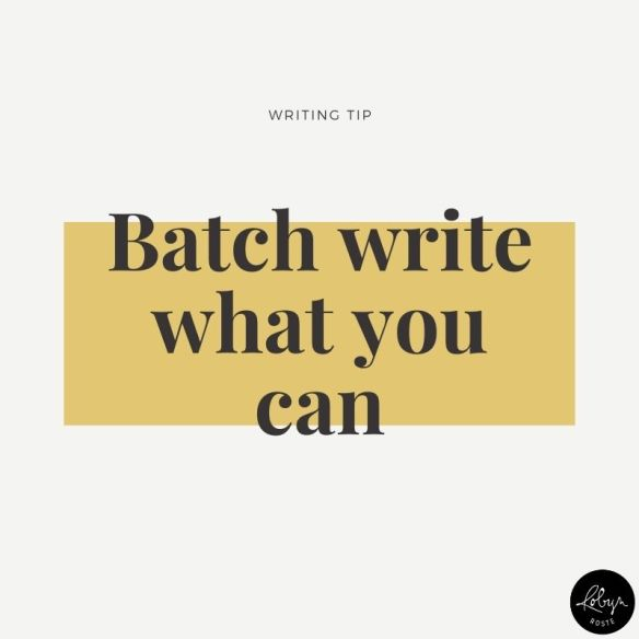 Writing tip: batch write what you can.