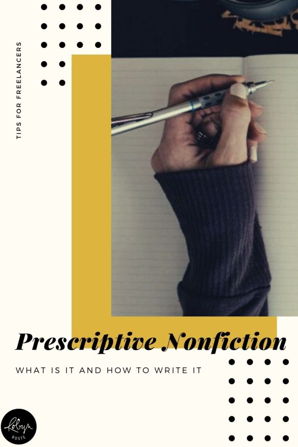 Prescriptive non-fiction books are known as being strong topical guides or instructional how-to books. They help readers accomplish something or acquire a new skill.