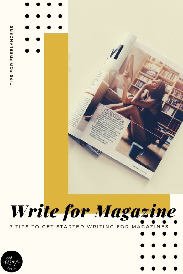 Learning how to write for magazines is one of those things I didn't understand until someone else taught me. So I thought I'd do the same for you today.