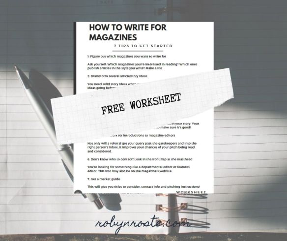 How to Write for Magazines Free Worksheet