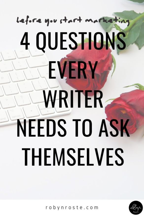 There are four decisions every writer needs to make before they get started marketing themselves online. They're foundational to your writing life.
