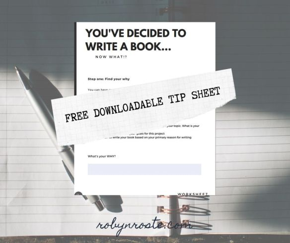 You've decided to write a book tip sheet
