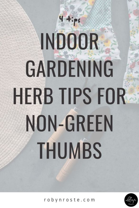 Here are some indoor gardening herb tips from someone who has tried, failed, tried again, failed some more, and is now a successful herb grower. Ish.