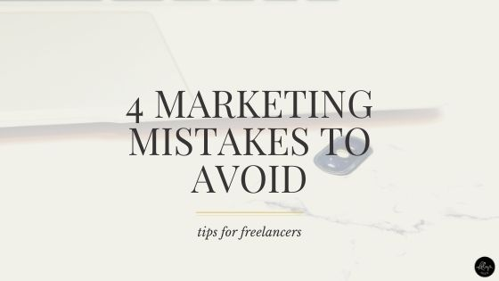 Marketing yourself is a huge part of running a freelance business and yet these four marketing mistakes are made all the time. All the time!
