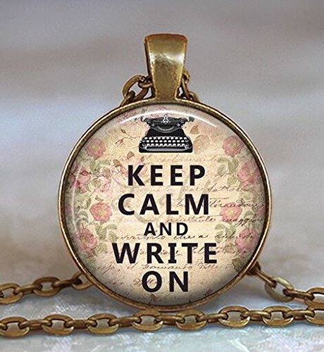 Keep calm and write on pendant