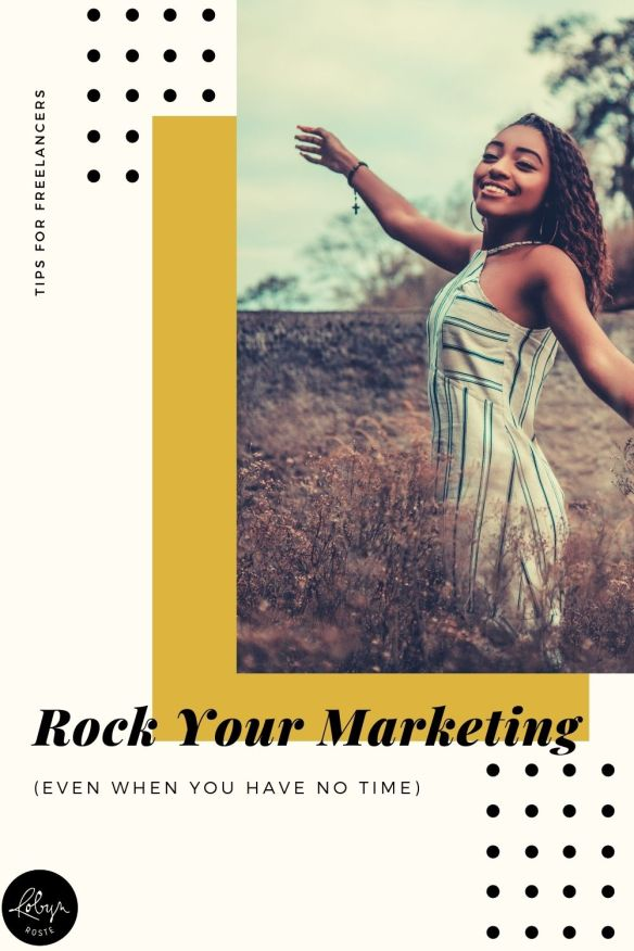 What if you could rock your marketing while you're busy so you stop having dry spells? (Spoiler: You can, and I'll tell you how.)