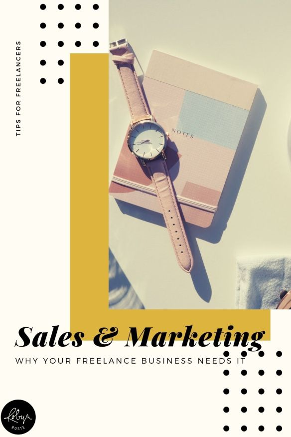If you're running a freelance business you already know you need both marketing and sales. Even if you're not stoked on it, you've accepted it as part of your life.