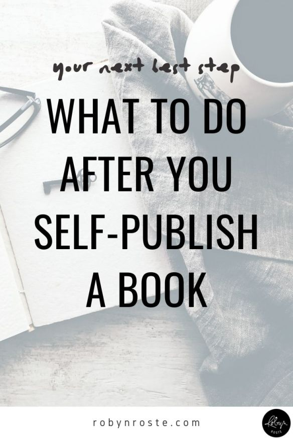 You've worked hard for a while writing your book and then you worked hard and self-published your book. Wow! Well done! But now what do you do?