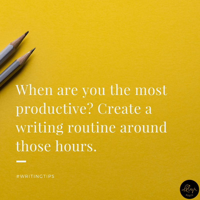 When are you the most productive? Create a writing routine around these hours