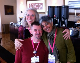 Robyn w/Shawn & Shiva at the Creating Change Conference