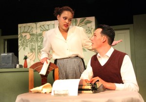 Maria (Sasha-Lee Kelly) and Jimmy (Pierre Kok). Photograph by Ruphin Coudyzer.