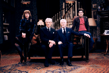 The cast of Vicious: (from left) Frances de la Tour (Violet); Sir Ian McKellen (Freddie); Sir Derek Jacobi (Stuart); Iwan Rheon (Ash). Photograph by Gary Moyes.