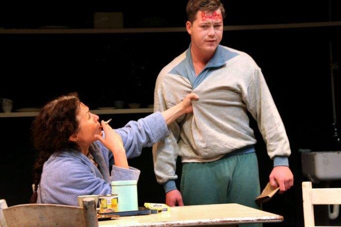 Humiliating Shortie: Anna Mart van der Merwe plays Millie, opposite Francois Jacobs as Shortie. Photograph courtesy www.artslink.co.za