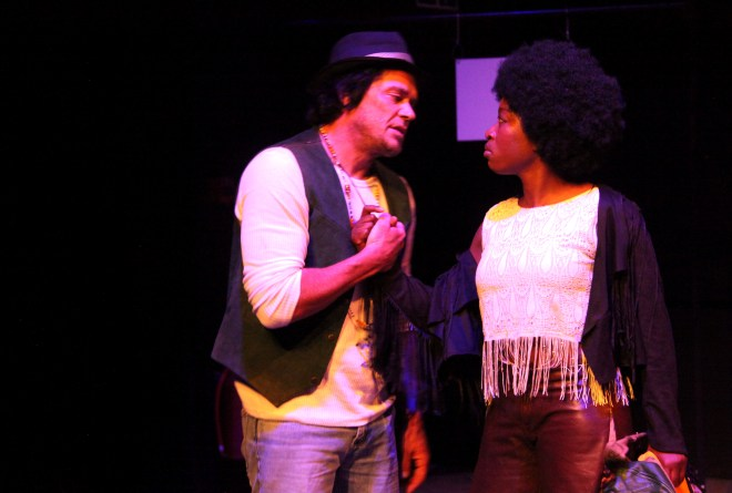 Punt: Hedley (Brandon Auret) and Thembsie (Chuma Sopotela) in Cincinatti. Photograph by Ruphin Coudyzer.